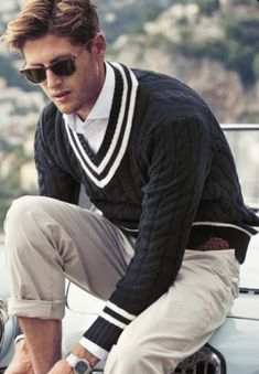 Cool Outfits For Men, Summer Outfits Men, Preppy Outfits, Men Summer, Der Gentleman, Gentleman Style, Ivy Style, Mode Style, Preppy Mens Fashion