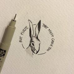 Tiny Animal Portrait Print Watership Down by TinyAnimalPortraits
