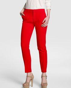 Resultado de imagen de pantalones rojos formales