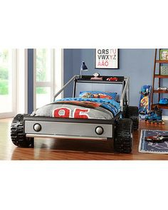 Bedtime will turn into a race to get under the covers when your kid's bed is THIS cool! Click ...