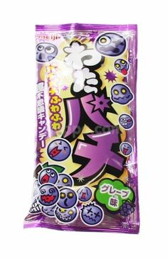 Meiji Watapachi Grape Popping Candy Floss