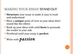 easy essay ideas How to write a good essay?