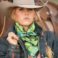 The Prickly Pear Wild Rag Scarf – Fringe Scarves The Prickly Pear for all the cactus lovers out there! This Wild Rag is satin silk and available in the Long Tall of 35 Sexy Cowgirl Outfits, Rodeo Outfits, Cowgirl Style, Western Outfits, Cowgirl Dresses, Cowgirl Clothing, Gypsy Cowgirl, Cowgirl Fashion, Western Chic