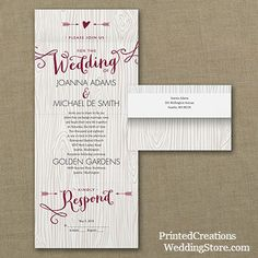 Woodsy Arrows Seal N Send Invitation Charming Rustic Wedding With Heart And Arrow