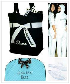 Bridesmaid Gifts Team Bride Sweatsuits Garment Bag Tote