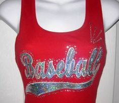 Baseball shirt made with sequins and rhinestones by SoCalBling, $32.00