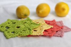 Coasters, Crochet Flower, Decoration, Table Accessory, Easter Decor, Kitchen and Dining.