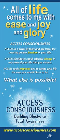 Would you like MORE ease, joy and glory in your life???    http://www.amarahtouch.com/access-consciousness-bars/