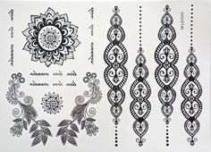 kovové tetování Cleopatra Black