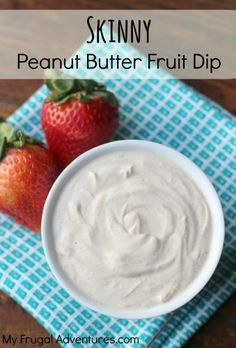 Creamy peanut butter fruit dip. Just 3 ingredients and so delicious! You will want to eat this straight from the bowl.