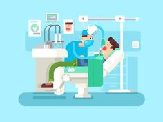 Dentist+treats+a+patient.+Treatment+dental,+clinic+medicine,+health+and+hygiene,+doctor+professional+vector+illustration+Vector+files,+fully+editable.