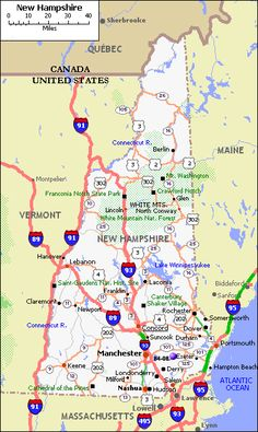 map of new hampshire - America Maps: Hampshire, one of England's southern provinces. Dorset, Wiltshire, Berkshire, Surrey and West Sussex borders with. New England States, New England Fall, New England Travel, Rv Travel, Summer Travel, Travel Tips, Beach Travel, Adventure Travel, Travel Photos