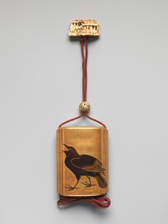 Inrō with Herons among Reeds (obverse); Crow (reverse) | Japan | Meiji period (1868–1912) | The Metropolitan Museum of Art