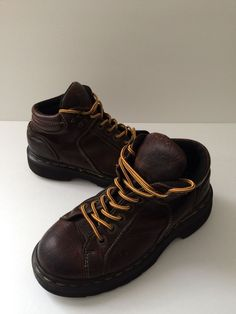 Dr. Martens Brown Leather Shoes Ankle Boots Oxfords Womens Size 5 Uk 4 #DrMartens #AnkleBoots