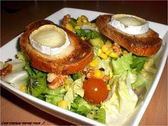 """Salade de chèvre chaud - C'est marqué """"servez-vous"""" ;)"""