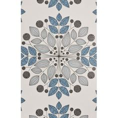 MissPrint Blues Kaleidoscope Wallpaper - MISP1091 - MissPrint from eggcup blanket UK