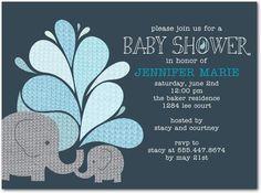 Baby Shower invite elephants