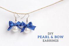 DIY Pearl and Bow Earrings