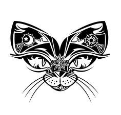 Ancient Cat Tattoo Design