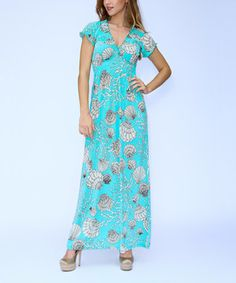 Loving this Mint Seashell Maxi Dress on #zulily! #zulilyfinds