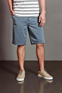 JackThreads - Solid Overdyed Canvas Short