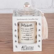 Sentiment Candle Jar Mum