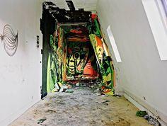 Les Bains Paris, street art in abandoned nightclub