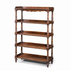 Bookcases Antiqued Wood 5 Tiered Etagere Display Bookcase by Theodore Alexander - Hamilton Park Interiors - Open Bookcase Salt Lake City Furniture & Interior Design Open Bookcase, Bookcases, Theodore Alexander, City Furniture, How To Antique Wood, Upholstery, Shelves, Display, Interior Design
