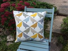 Excited to share this item from my shop: Harlequin Scion Fabric Cushion Cover - 'Lintu' Love Bird Design