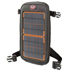Fuse 4W Solar Charger Backpack Attachment, charges up smartphones and other small devices. Perfect for Backpackers and Campers!