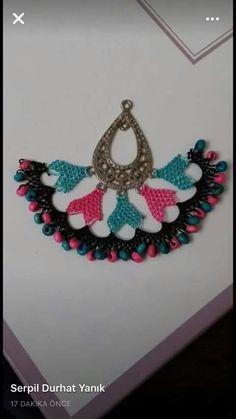 ༺✿༻İğne Oyası Takılar Diy And Crafts, Paper Crafts, Piercings, Needle Lace, Moda Emo, Paper Art, Elsa, Crochet Earrings, Jewelry