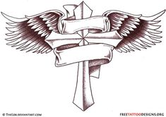 bannered tattoo | 50 Cross Tattoos | Tattoo Designs of Holy Christian, Celtic and Tribal ...