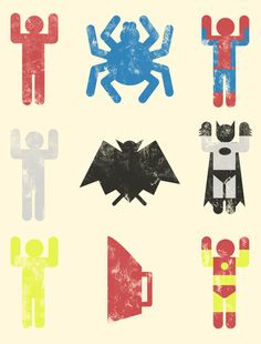 Super Heroic Minimalism by Jonah Block - these superhero prints are always fun. Logo Super Heros, Funny Images, Funny Pictures, Funny Pics, Funny Quotes, Hilarious Stuff, Comic Art, Comic Books, Ironman
