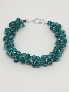 Aqua Pomegranate Kumihimo Bracelet                      – Jewelz Galore