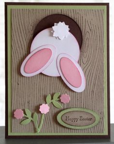 stampin up Tree Stump Hole Bunny Easter Projects, Easter Crafts, Ostern Party, Punch Art Cards, Karten Diy, Greeting Cards Handmade, Handmade Easter Cards, Kids Cards, Creative Cards