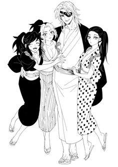 Anime Demon, Anime Manga, Anime Art, Demon Slayer, Slayer Anime, Character Art, Character Design, Samurai, Anime Couples