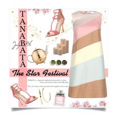 The Star Festival-TANABATA-July 7th by yukotange on Polyvore featuring polyvore, fashion, style, Valentino, Manolo Blahnik, Elizabeth and James, Christian Dior, TWG Tea Company, Frontgate, Tea Collection and clothing