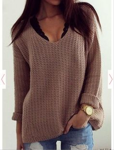 2015 Hot sale women winter Coffee Plain Hollow-out
