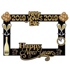 Happy New Year Party 2019 Photo Booth Frame Props New Years Eve Decor Photobooth Christmas Navidad Noel Decorations for Home Photo Booth Frame Prop, Christmas Photo Booth Props, Photobooth Christmas, Happy New Year Photo, Happy New Year 2019, New Years Eve Decorations, Christmas Decorations, New Year Props, New Eve