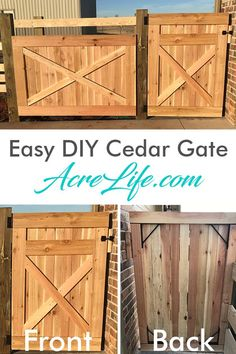 Easy DIY cedar gate with tools and materials list. Step-by-step guide will help you build this rustic country look gate in an hour.