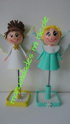 Fofubolis angelitos de navidad