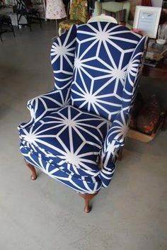 Tips for Choosing a Fabric for Upholstery by Spruce Upholstery - Heller Wingback Upholstery Cleaner, Furniture Upholstery, Upholstered Chairs, Wingback Chairs, Wing Chairs, Chair Cushions, Armchairs, Diy Furniture Projects, Furniture Styles