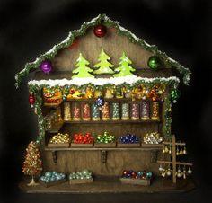 Charming OOAK German Miniature Christmas Market Stand made by DinkyWorld