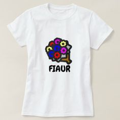 Text in Dalmatian: fiaur and colorful flower T-Shirt - flowers floral flower design unique style Montenegro, T Shirt Flowers, Simple Shirts, Girls Wardrobe, White T, Colorful Flowers, Floral Flowers, Red Fashion, Wardrobe Staples