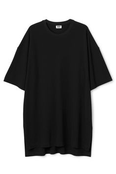 The Eli Tee Crepe Dressis made of soft cotton jersey and hasanoversized fit. It has highside slits, a longer back drop and slightly dropped shoulders for a relaxed look. - Size Small measures 128 cm in chest circumference and 85 cm in length. The sleeve length is 26 cm.