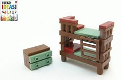 2011 - dk book child's bedroom - models commissioned for dorling-kindersley's lego ideas book Minifigura Lego, Lego Craft, Lego Minecraft, Minecraft Houses, Minecraft Skins, Minecraft Crafts, Lego Modular, Lego Design, Pokemon Lego