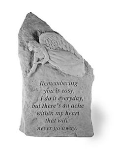 Remembering You is Easy - Small Memorial Stone Totem