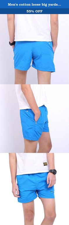 Men's cotton loose big yards casual breathable quick-drying shorts / beach pants. Fabric: soft, breathable and comfortable quick-drying polyester surface layer, can not ball, do not fade. Good things to share with everyone: the environment can be easily adapted to a variety of occasions, fishing, walking, running, etc. is not only a seaside resort, as a gift for friends and family is a good choice. Classic style, simple version of the type to bring more casual feel, but do not ignore the...