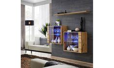 Nowoczesna witryna SWITCH z oświetleniem LED otwierana za pomocą systemu push-click, czyli otwierania za pomocą naciśnięcia  #love #beautiful #art #style #design #photo #mirateu Floating Shelves, Shelving, Led, Fibres, Home Decor, Products, Beautiful, Woodland Living Room, Shelves