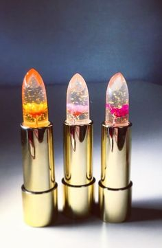 Enter the prettiest lip product you've ever seen in your life. These clear lipsticks—boasting stunning flowers set into the bullet—are as pretty in the tube as they are on your lips. Depending on your body temperature, the color changes from a pale pink to a darker rose, which is perfect for giving your pout a pop of color, without a thick layer of product.